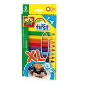 Набор восковых цветных карандашей серии My first - РАДУГА (8 цветов) от Ses (Ses creative)