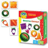 Развивающая игра 'Фрукты-овощи' серии Умница. Vladi Toys, русский язык от Vladi Toys (ВладиТойс)