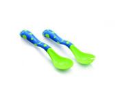 Набор: ложка и вилка, с нескользящим покрытием, 18+., сине-зеленый от NUBY (Нуби)