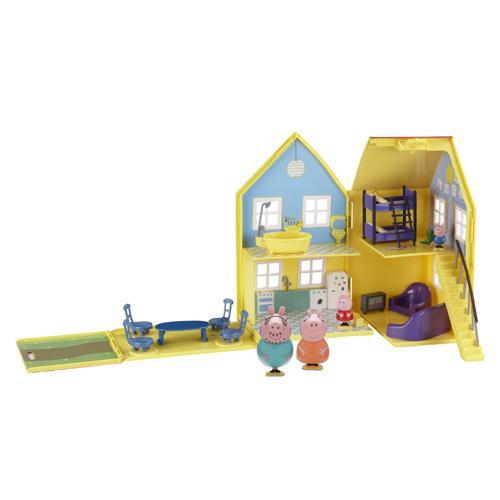 Игровой набор Загородный домик Пеппы с мебелью и четырьмя фигурками. Peppa