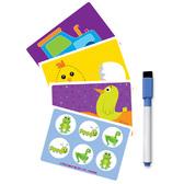 Развивающие задания - Пиши и вытирай - с маркером, украинский язык от Vladi Toys (ВладиТойс)