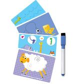 Развивающие задания - Пиши и вытирай - с маркером, русский язык от Vladi Toys (ВладиТойс)
