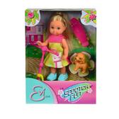 Эви - Веселые приключения - со щенком, самокатом и скейтом, кукла, Steffi & Evi Love, розовый самокат и скейт от Steffi & Evi Love(Штеффи и Эви Лав)