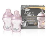 Бутылочки для кормления декорированные (260 мл), 2 штуки (для девочек), Tommee Tippee., розовые от Tommee Tippee(Томми Типпи)