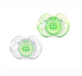 Ортодонтические пустышки Дышащие зеленые, 0-6 месяцев, 2 штуки, Tommee Tippee., зеленые от Tommee Tippee(Томми Типпи)