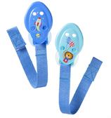 Цепочки для пустышки, синие, 2 штуки, Tommee Tippee., голубые с ракетой и львом от Tommee Tippee(Томми Типпи)