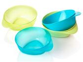 Тарелки глубокие, набор из 4 штук, голубые и зеленые, Tommee Tippee., голубые и зеленые от Tommee Tippee(Томми Типпи)