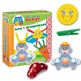 Игра Прищепки 'Зайка', Vladi Toys., украинский язык от Vladi Toys (ВладиТойс)
