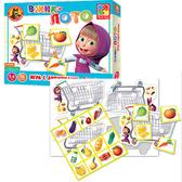 Игра с липучками Вжик Лото. Маша и Медведь . Vladi Toys, украинский язык от Vladi Toys (ВладиТойс)