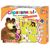 Игра настольная Спрятались. Маша и Медведь. Vladi Toys, русский язык от Vladi Toys (ВладиТойс)