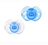 Ортодонтические пустышки Дышащие синие, 0-6 месяцев, 2 штуки, Tommee Tippee., синие от Tommee Tippee(Томми Типпи)