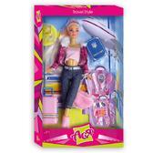 Путешествие. Набор с куклой 28 см, блондинка в штанах и розовом топе. Ася от Ася