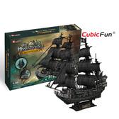 Трехмерная головоломка-конструктор Корабль Черной бороды, Месть королевы Анны (большой), CubicFun NEW