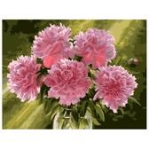 Розовые пионы в вазе худ. Пивоварова Марина, 40х50см