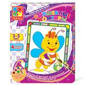Пчелка, Волшебные контуры, 4 картинки-раскраски. Vladi Toys NEW от Vladi Toys (ВладиТойс)