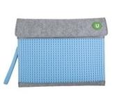 Клатч для планшета Upixel-Серо-голубой