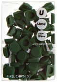 Пиксели Upixel Small - Темно-зеленый , WY - P002I