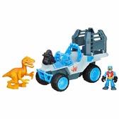 Внедорожник и желтый динозавр, игровой набор. Jurassic World, внедорожник и желтый динозавр