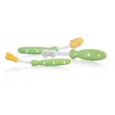 Набор зубных щеток (2 для десен, 1 для зубов), зеленые, 3m+. Nuby, зеленый NEW от NUBY (Нуби)