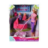 Штеффи в бриджах и близнецы в коляске, набор кукол. Steffi & Evi Love, кукла в бриджах NEW от Steffi & Evi Love(Штеффи и Эви Лав)