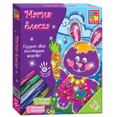 Заяц, Магия блеска, набор с глиттерными карандашами. Vladi Toys, рус. язык NEW от Vladi Toys (ВладиТойс)