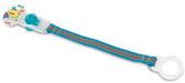 Клипса для пустышек с кольцом (цвет в ассорт. 6 ) 0m + , синяя с слоником NEW от NUBY (Нуби)