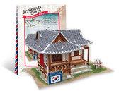 Трехмерная головоломка-конструктор, Южная Корея Местная резиденция. CubicFun NEW