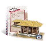 Трехмерная головоломка-конструктор, Южная Корея Соломенный домик. CubicFun NEW