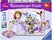 Ravensburger Набор картонных пазлов-2х12 Дисней Принцесса София, 09086R NEW