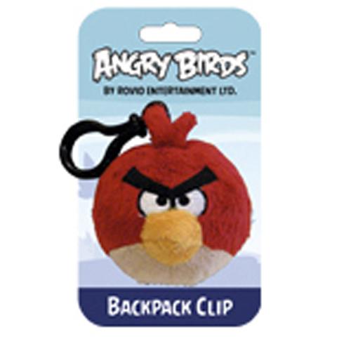 Мяг.игр. - подвеска на рюкзак ANGRY BIRDS (птичка красная, 8см)