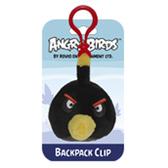 Мяг.игр. - подвеска на рюкзак ANGRY BIRDS (птичка черная, 8см)