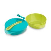 Тарелочка глубокая с крышкой и ложечкой, 2 штуки голубая и салатовая, Tommee Tippee, голубая и салатовая NEW от Tommee Tippee(Томми Типпи)