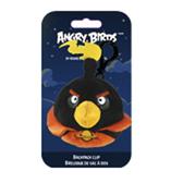 Мяг.игр. - подвеска на рюкзак ANGRY BIRDS SPACE (птичка черная, 8см)