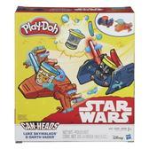 Игровой набор пластилина Транспортные средства Звездные войны, Play Doh, Luke Skywalker & Darth Vader NEW