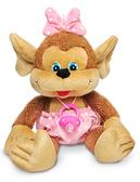 Мягкая игрушка Мартышка с пустышкой (музыкальная, 24 см), LAVA, в розовом NEW от Lava (Лава)