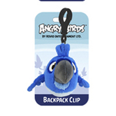 Мяг.игр. - подвеска на рюкзак ANGRY BIRDS RIO (птичка синяя, 8см)