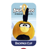 Мяг.игр. - подвеска на рюкзак ANGRY BIRDS (птичка оранжевая, 8см)