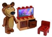 Конструктор Маша и Медведь . Стартовый набор , дисплей 12 шт , 4 вида , 18мес + , Мишка и телевизор NEW от Big