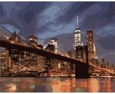 Ночной Нью-Йорк, 40х50см от Идейка