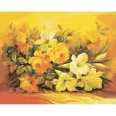 Букет в желтом цвете, 40х50см