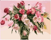 Тюльпаны в вазе, 40х50см от Идейка