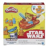 Игровой набор пластилина Люк Скайуокер и R2-D2, Звездные войны, Play-Doh, оранжевый