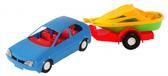 Игрушечная машинка авто-купе с прицепом, синяя, Wader, синий NEW от Wader