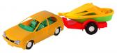 Игрушечная машинка авто-купе с прицепом, желтая, Wader, желтый NEW от Wader