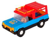 Авто-сафари - машинка, Wader, синяя с красной крышей NEW от Wader