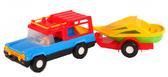 Авто-сафари с прицепом - машинка, Wader, прицеп с лодочкой NEW от Wader