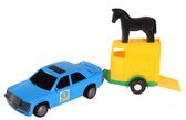 Игрушечная машинка, авто-мерс синий с прицепом и лошадкой, Wader, синий с лошадкой NEW от Wader