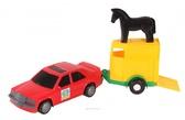 Игрушечная машинка, авто-мерс красный с прицепом и лошадкой, Wader, красный с лошадкой NEW от Wader