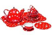 Чайный сервиз, красный в горох, 15 предметов, Champion от CHAMPION