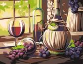 Вино, акриловая живопись по номерам, 35 х 45 см, Rosa Start, Роса NEW от РОСА